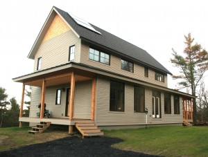 New Net Zero, High Efficiency home in North Ferrisburgh VT. Photo by Chris White.