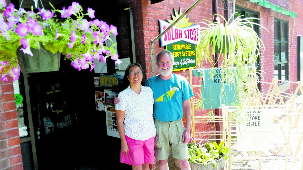 Clair Chang and John Ward of the Solar Store of Greenfield. Photo courtesy of Clair Chang.