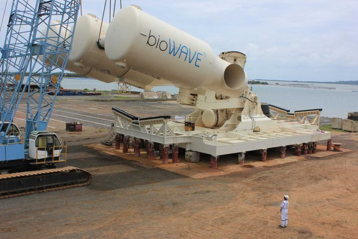 Victoria's first prototype wave power unit will be deployed in November. (BioPower Systems Pty Ltd)
