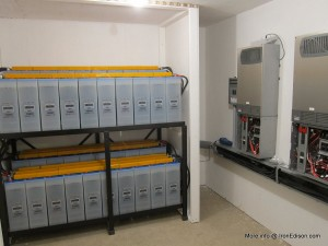 Cadillac, Mi - Wind and solar compatible batteries. Photos courtesy of Iron Edison