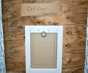 One of the most popular features of the Wayland passive house: the passive pet door!
