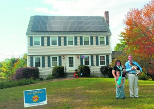 Dave Ciarla's solar- powered home in Derry, New Hampshire. Photo courtesy of Revision Energy.
