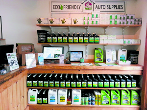 Eco-Friendly auto supplies at Paris Autobarn. Photo courtesy of Paris Autobarn