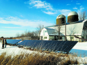 Scot Lueck's family's ground and roof-mounted solar array in Butternuts, N.Y. Photo: Tammy Reiss