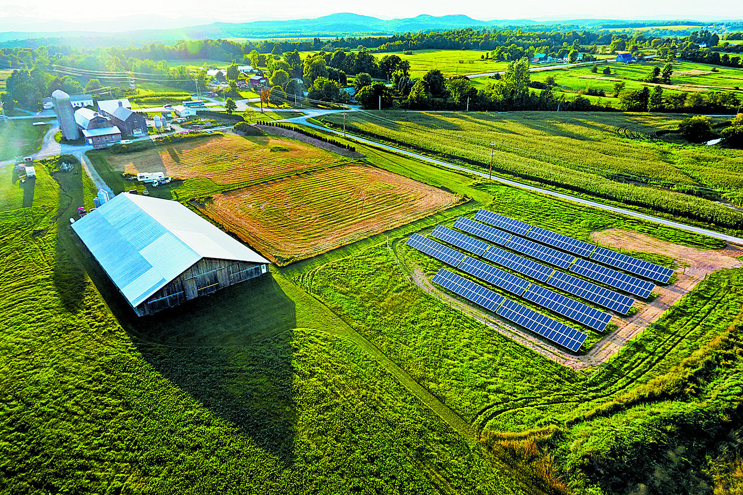 Encore Renewable Energy's Misty Knoll Farm project – creating value on the least agriculturally usable portion of the property.