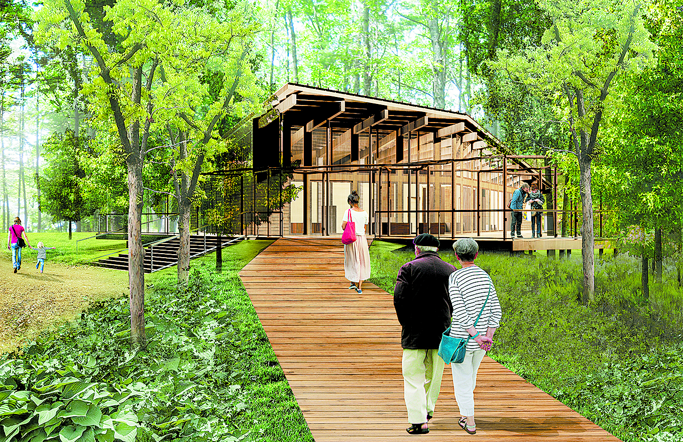 Rendering of the Walden Pond Visitors' Center. Photo courtesy of Maryann Thompson Architects