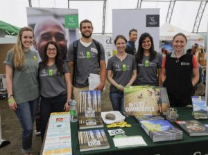 The IEE's energy clinicians, research associates, and global energy fellows at Solarfest 2014, Tinmouth, VT
