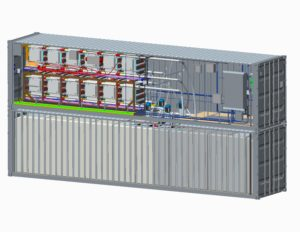 Schematic rendering: Internal schematic of ViZn Energy's GS200. Photos: ViZn Energy Systems