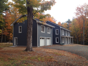 Woodstock, NY Passive House in the fall. Photo courtesy of Daniel Levy, Ph.D
