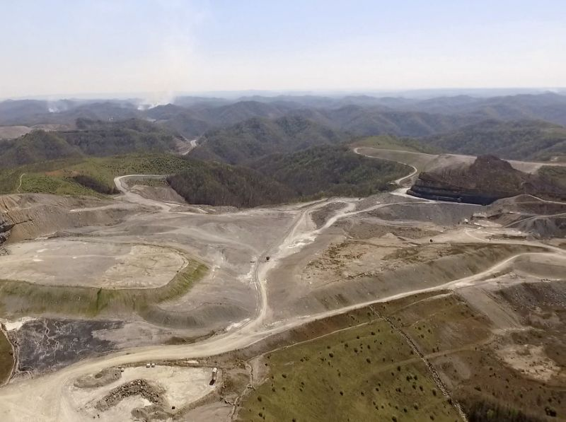 Mountaintop removal site near Pikeville (Kenny Stanley | Berkeley Energy Group via AP)