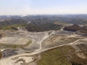 This large mountaintop removal mine in Kentucky may soon be home to the state's largest solar farm. Photo: Berkeley Energy Group