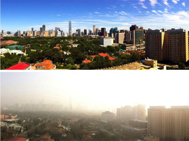 The difference pollution makes for Beijing
