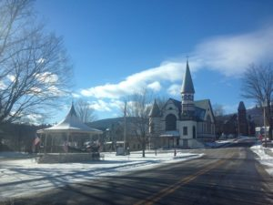 Ludlow, VT with Okemo Mountain in the background. Photo: preservationinpink.wordpress.com
