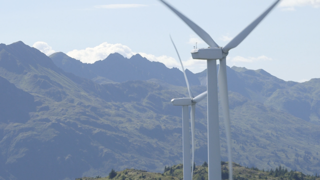 Turbines on Kodiak Island (Photo: Eric Keto | Alaska's Energy Desk)
