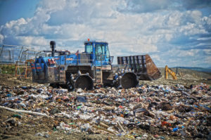 Bulldozer at Coventry landfill. Photo: Jonny Finity.
