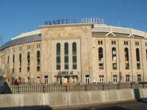 An entrance to Yankee Stadium's Great Hall. Photo: public domain.