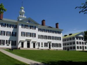 Dartmouth College in Hanover, NH. Photo: Wikimedia Commons.