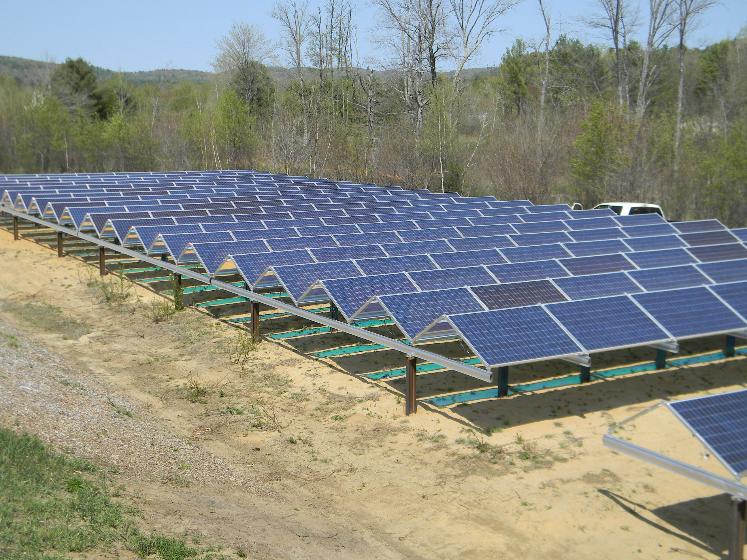 The first solar array was built on Furlone's property in Spring 2015.