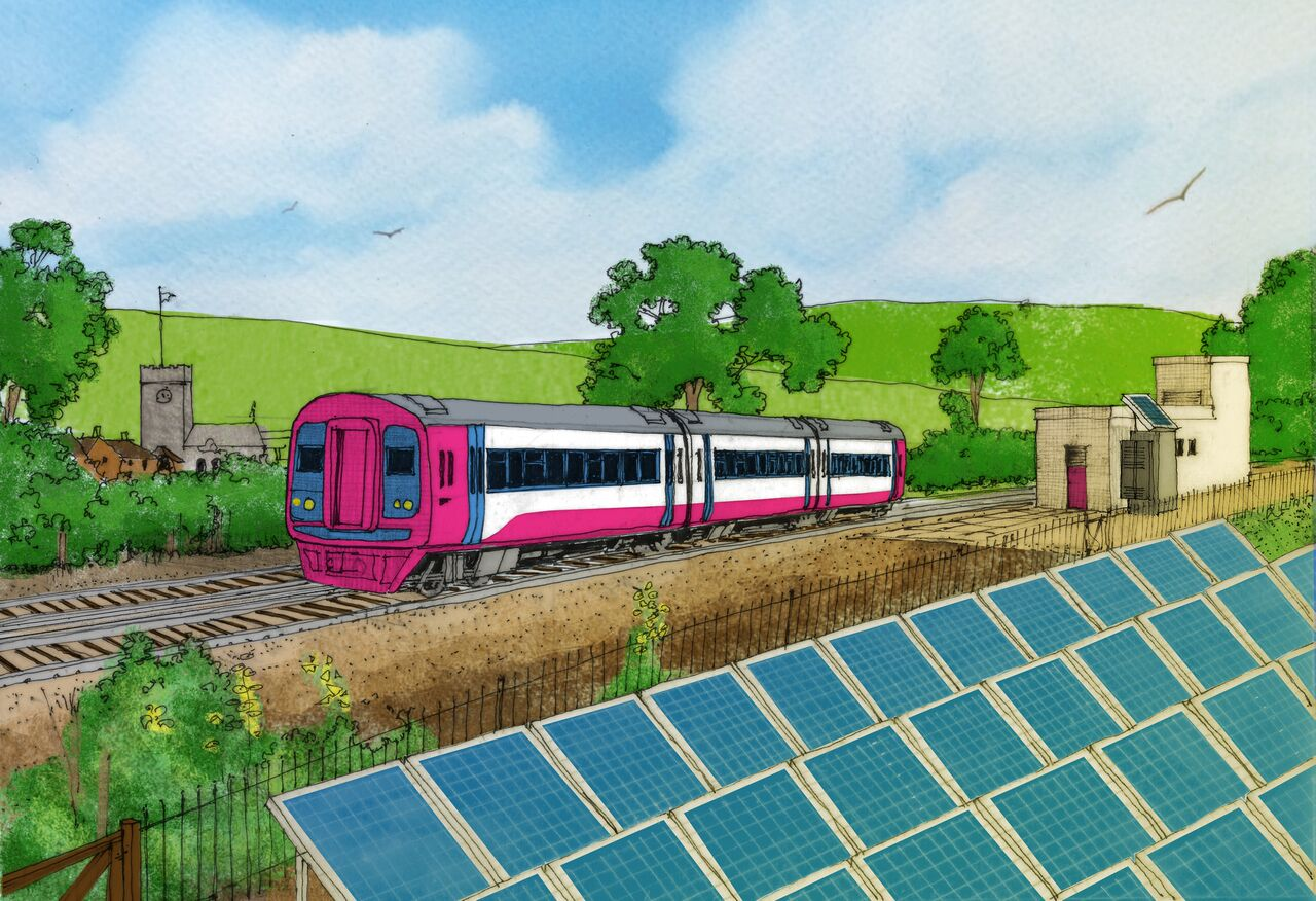 PV powering a train