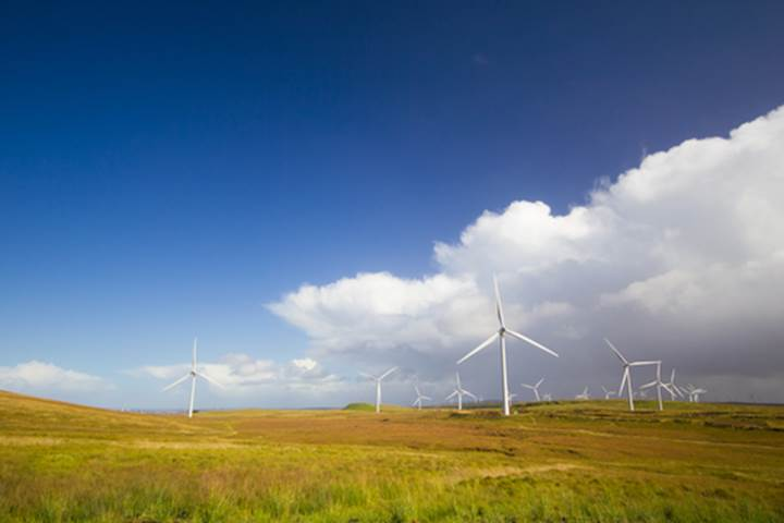 Wind farm in Scotland